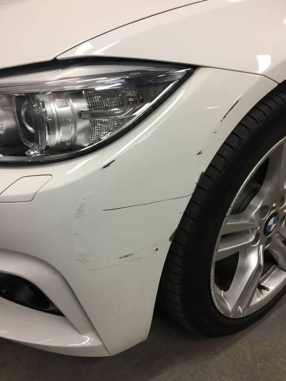 BMW F36 4シリーズ キズへこみ 鈑金塗装修理