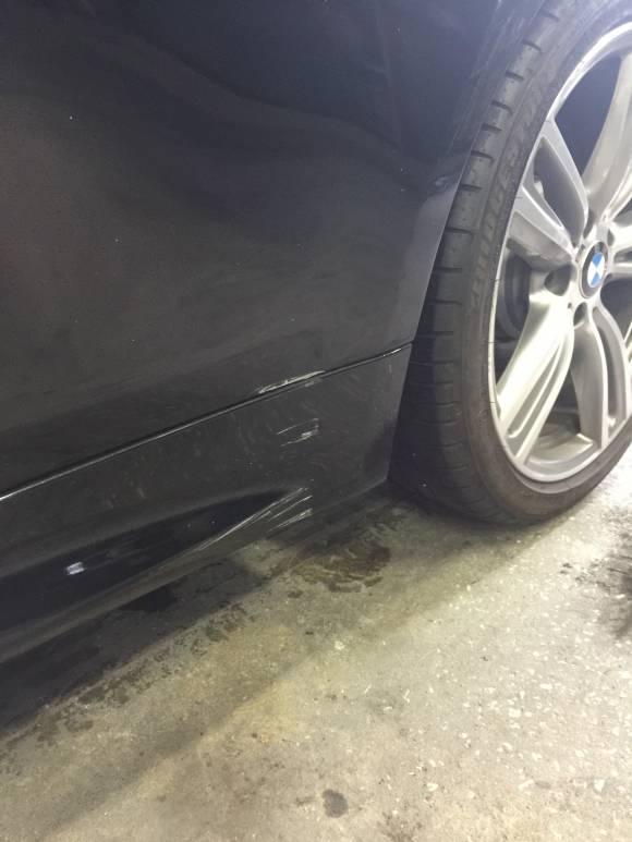 BMW F32 4シリーズ キズへこみ 鈑金塗装修理