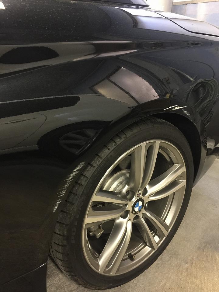 BMW F33 4シリーズ キズへこみ 板金塗装修理