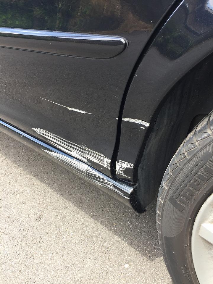 ジャガー Xタイプ キズへこみ 板金塗装修理 コーティング