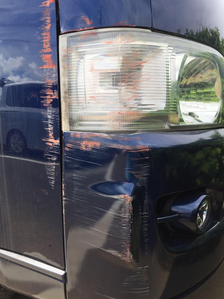 トヨタ ハイエース TRH200V キズへこみ 板金塗装修理
