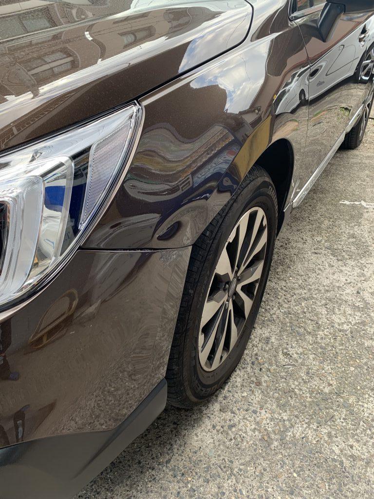 スバル アウトバック BS9 キズへこみ 板金塗装修理