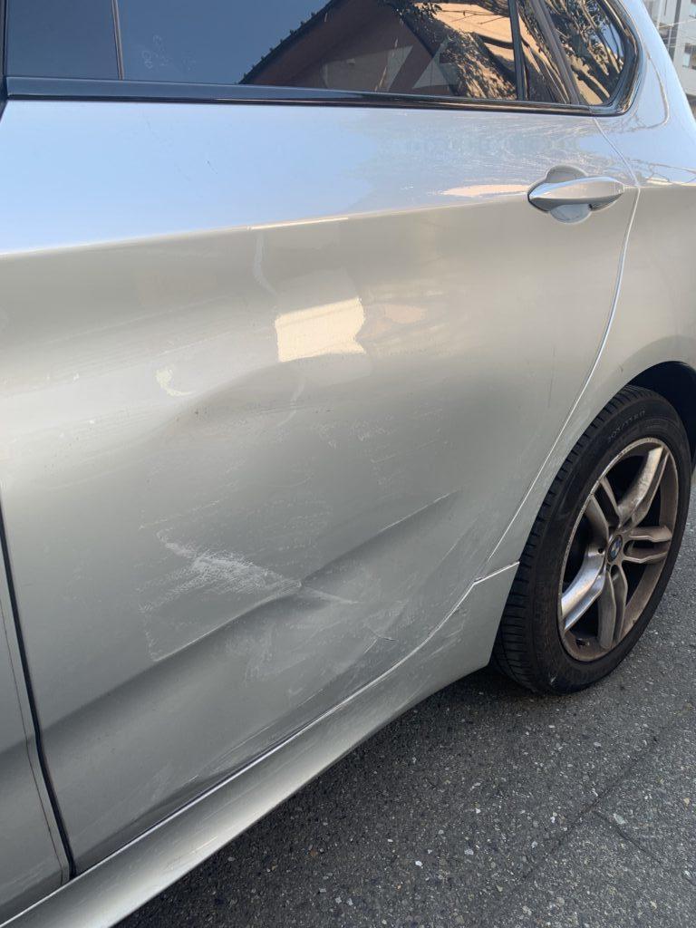 BMW 2シリーズ F45 キズへこみ 板金塗装修理