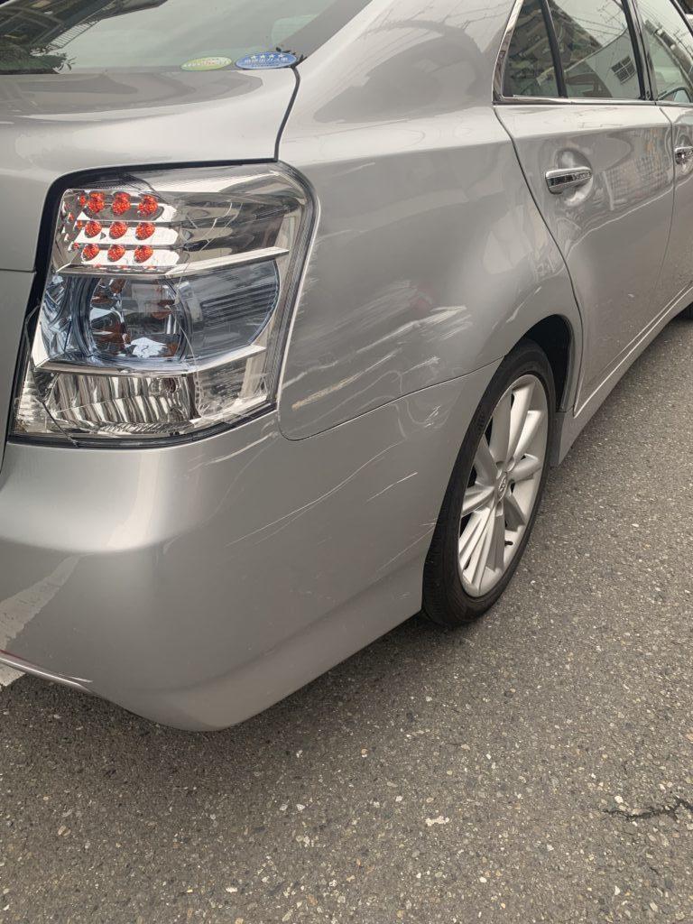 トヨタ SAIサイ AZK10 キズへこみ 板金塗装修理