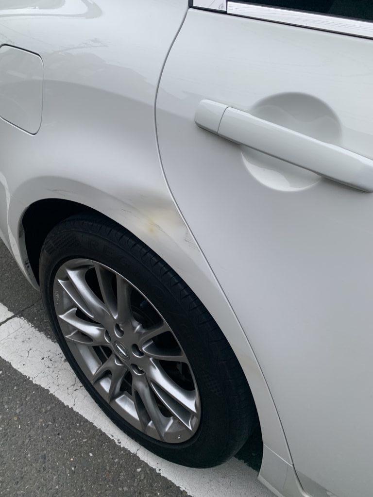 ニッサン スカイライン V36 キズへこみ 板金塗装修理