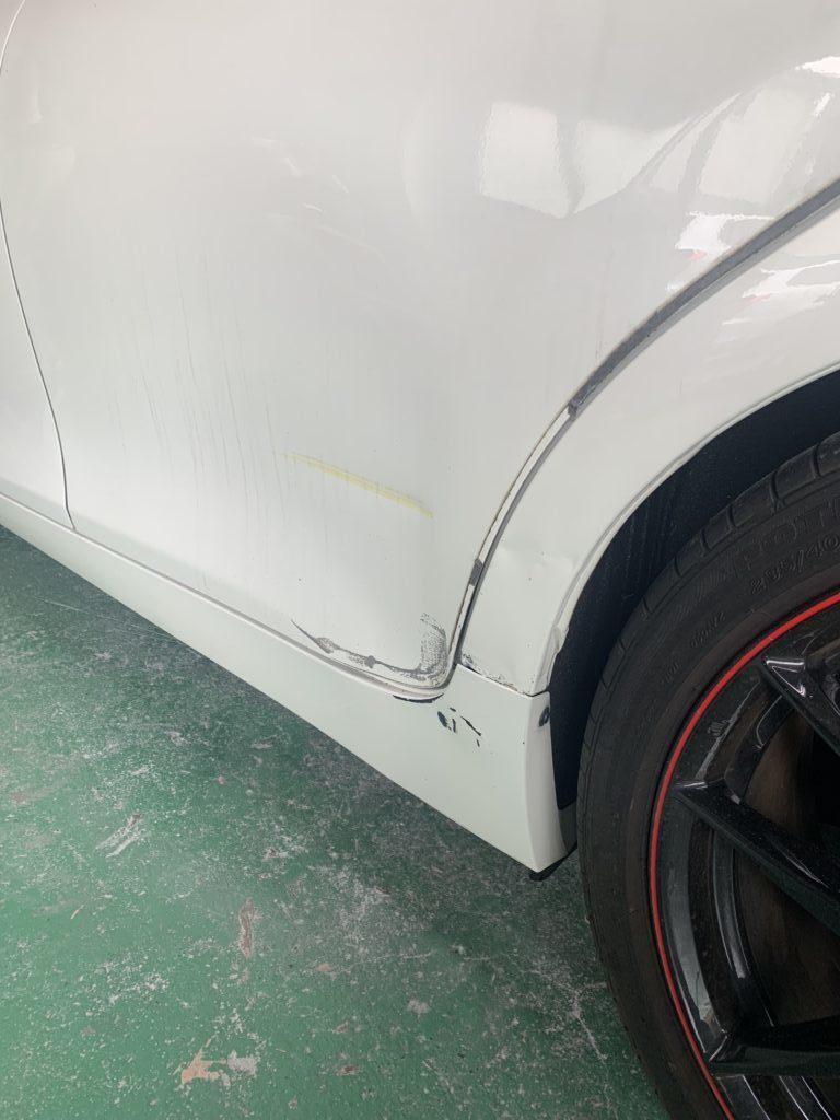 トヨタ マークX G's GRX130 キズへこみ 板金塗装修理