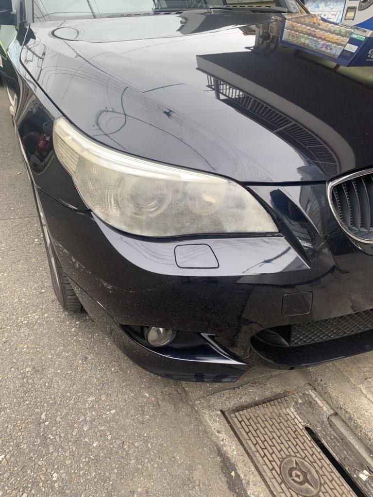 BMW 5シリーズツーリング E61 ヘッドライト塗装交換