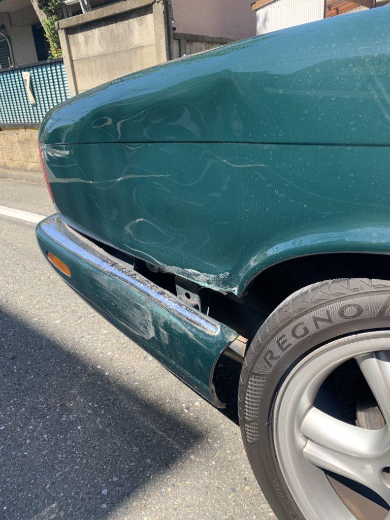 ジャガー XJ キズへこみ 板金塗装修理