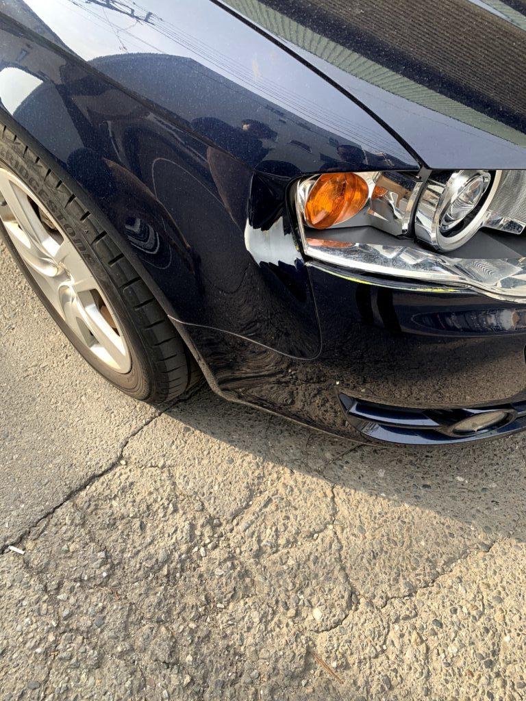 アウディ A4 車検 キズへこみ 板金塗装修理
