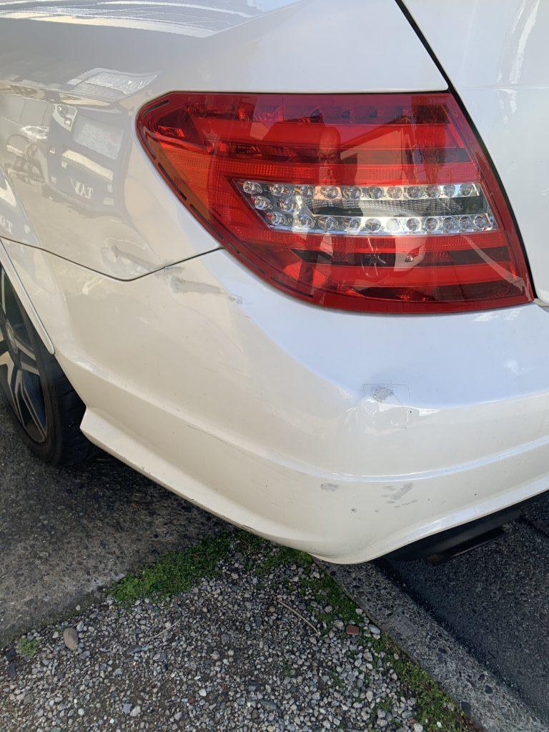 メルセデスベンツ CクラスAMG W204 キズへこみ 板金塗装修理