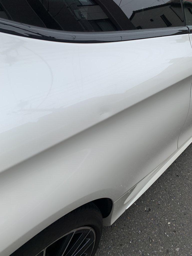 メルセデスベンツ C300クーペ W205 キズへこみ 板金塗装修理