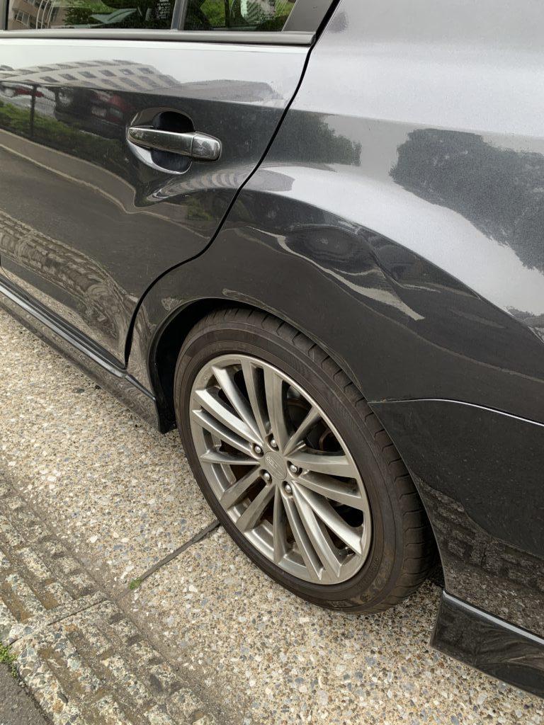 スバル インプレッサ GJ6 キズへこみ 板金塗装修理