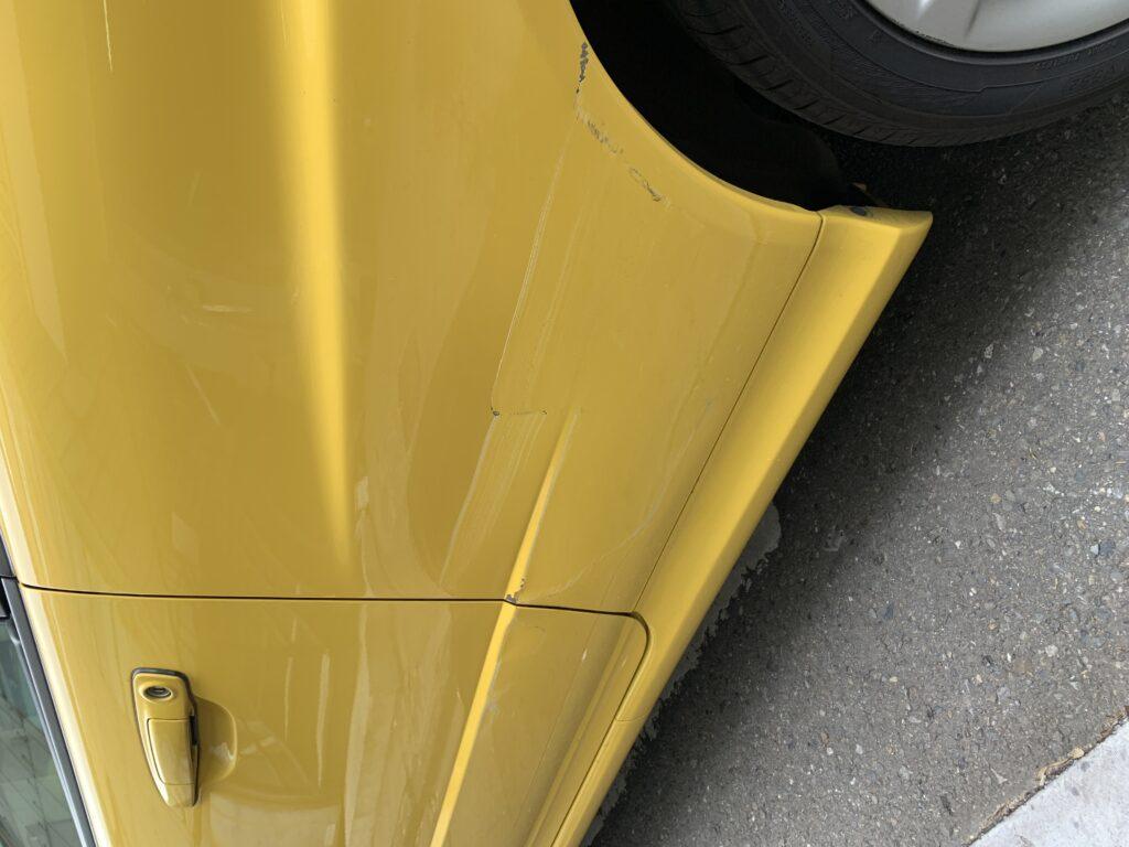 ニッサン スカイライン ER34 キズへこみ 板金塗装修理