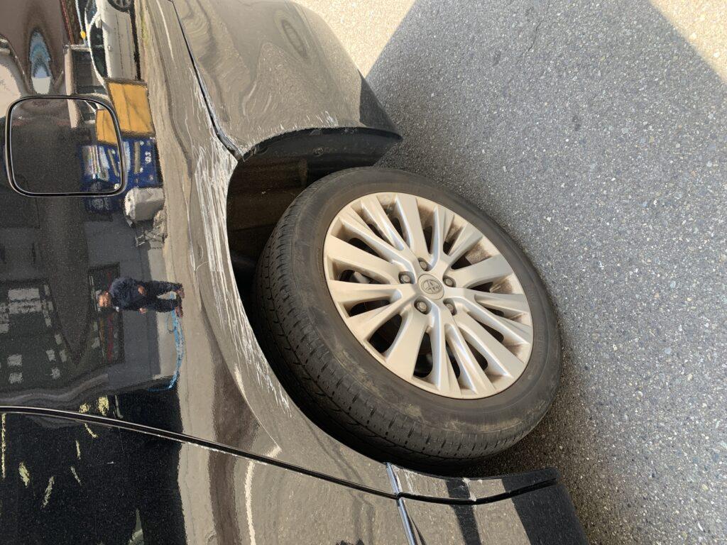 トヨタ ヴェルファイア ANH25 キズへこみ 板金塗装修理