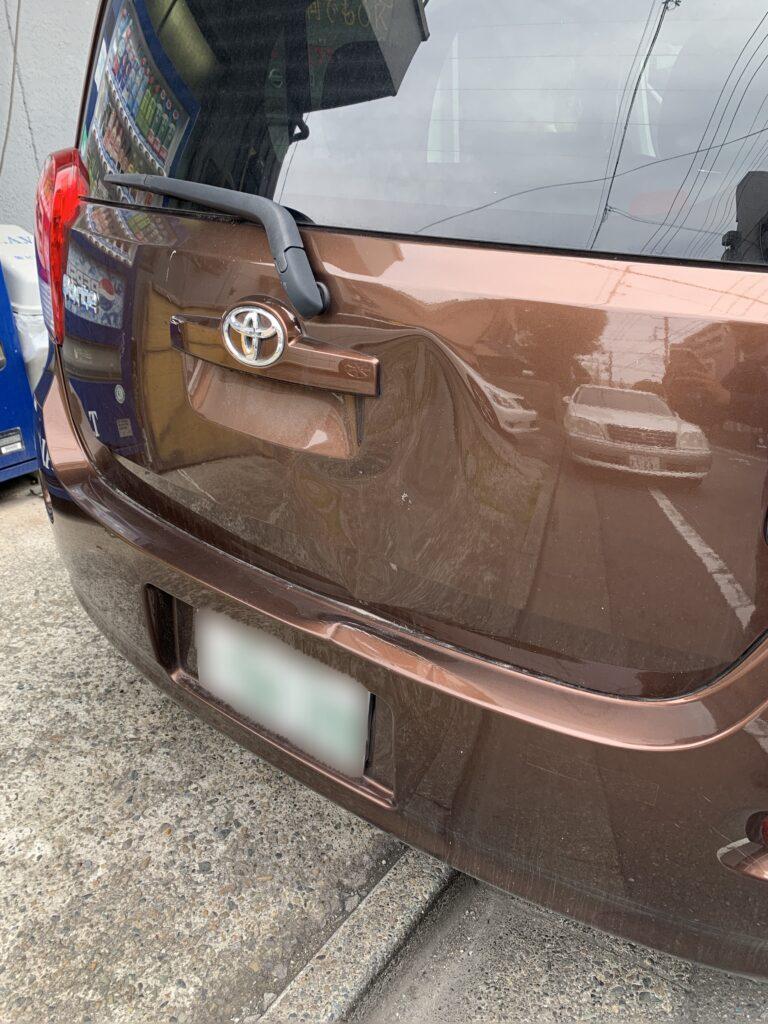 トヨタ ポルテ NCP141 キズへこみ 板金塗装修理