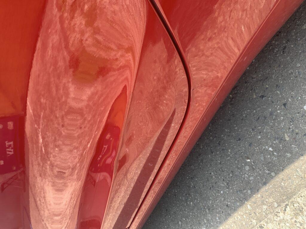 テスラ モデル3 アルミパネル キズへこみ 板金塗装修理