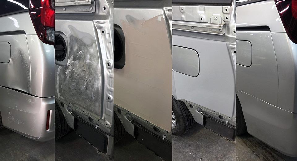 納得の板金塗装技術