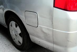 後方側面損傷の修理後